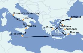 Itinerario de crucero Grecia y Adriático 11 días a bordo del Seven Seas Voyager