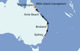 Itinerario de crucero Australia 2021 11 días a bordo del Royal Princess