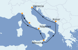Itinerario de crucero Mediterráneo 9 días a bordo del Celebrity Constellation