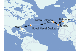 Itinerario de crucero Islas Canarias 13 días a bordo del Seven Seas Splendor