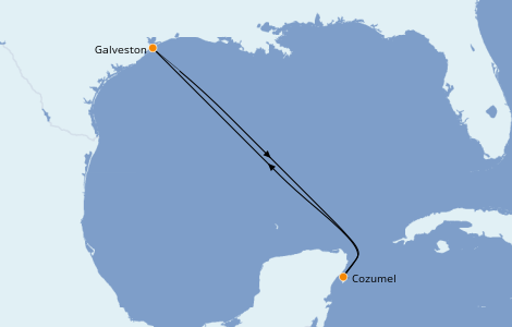 Itinerario del crucero Caribe del Oeste 5 días a bordo del Carnival Breeze