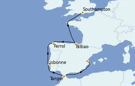 Itinerario de crucero Mediterráneo 9 días a bordo del MSC Magnifica