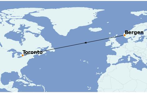 Itinerario del crucero Fiordos y Noruega 13 días a bordo del Le Dumont d'Urville