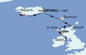 Itinerario de crucero Islas Británicas 13 días a bordo del Silver Cloud Expedition