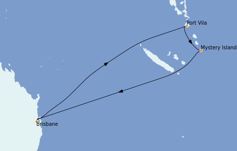Itinerario del crucero Australia 2023 7 días a bordo del Quantum of the Seas