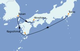 Itinerario de crucero Asia 6 días a bordo del