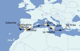 Itinerario de crucero Mediterráneo 11 días a bordo del Azamara Journey