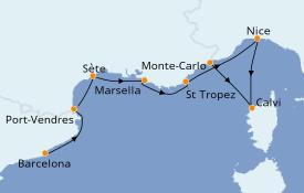 Itinerario de crucero Mediterráneo 8 días a bordo del Azamara Journey