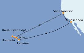 Itinerario de crucero Hawaii 16 días a bordo del Ruby Princess