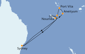 Itinerario de crucero Australia 2019 10 días a bordo del Celebrity Solstice