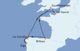 Itinerario de crucero Mediterráneo 9 días a bordo del Celebrity Silhouette