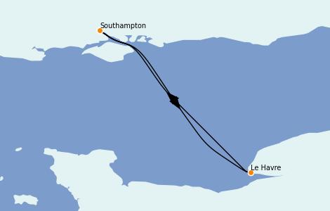 Itinerario del crucero Islas Británicas 2 días a bordo del Anthem of the Seas