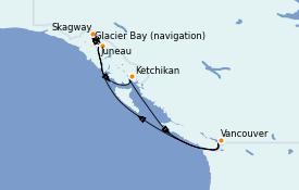 Itinerario de crucero Alaska 8 días a bordo del ms Zuiderdam