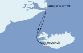 Itinerario de crucero Exploración polar 13 días a bordo del Le Commandant Charcot