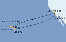 Itinerario de crucero Hawaii 16 días a bordo del Star Princess