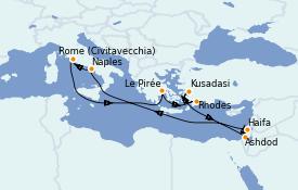 Itinerario de crucero Grecia y Adriático 13 días a bordo del Odyssey of the Seas