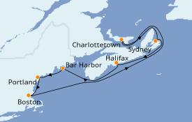 Itinerario de crucero Trasatlántico y Grande Viaje 2021 8 días a bordo del Norwegian Gem