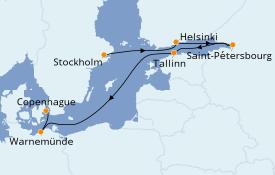 Itinerario de crucero Mar Báltico 8 días a bordo del Seven Seas Explorer