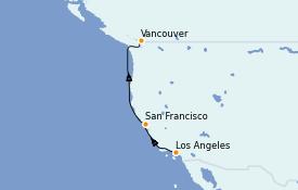 Itinerario de crucero Alaska 6 días a bordo del Norwegian Encore