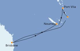Itinerario de crucero Australia 2021 9 días a bordo del Radiance of the Seas