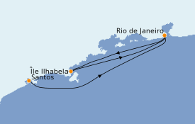 Itinerario de crucero Suramérica 5 días a bordo del MSC Preziosa