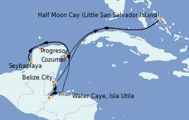 Itinerario de crucero Caribe del Oeste 11 días a bordo del Le Bellot