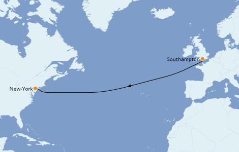 Itinerario del crucero Islas Británicas 7 días a bordo del Queen Mary 2