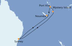 Itinerario de crucero Australia 2023 10 días a bordo del Ovation of the Seas