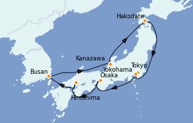 Itinerario de crucero Asia 11 días a bordo del Silver Shadow