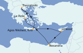 Itinerario de crucero Grecia y Adriático 12 días a bordo del Celestyal Experience