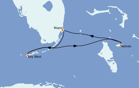 Itinerario del crucero Caribe del Este 3 días a bordo del Celebrity Summit