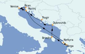 Itinerario de crucero Grecia y Adriático 11 días a bordo del Seabourn Quest