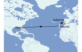 Itinerario de crucero Trasatlántico y Grande Viaje 2022 13 días a bordo del Azamara Quest
