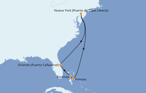 Itinerario del crucero Bahamas 7 días a bordo del Anthem of the Seas
