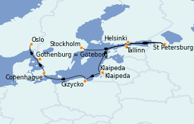 Itinerario de crucero Mar Báltico 10 días a bordo del MS Marina