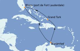 Itinerario de crucero Caribe del Este 9 días a bordo del Caribbean Princess