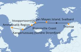 Itinerario de crucero Exploración polar 16 días a bordo del L'Austral