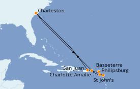 Itinerario de crucero Caribe del Este 11 días a bordo del Carnival Sunshine