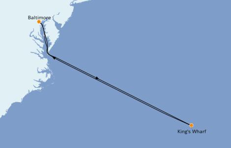 Itinerario del crucero Bahamas 5 días a bordo del Enchantment of the Seas