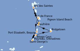 Itinerario de crucero Caribe del Este 9 días a bordo del Le Dumont d'Urville