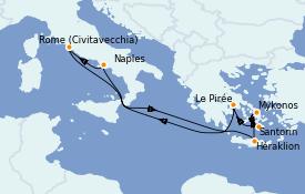 Itinerario de crucero Mediterráneo 10 días a bordo del Odyssey of the Seas