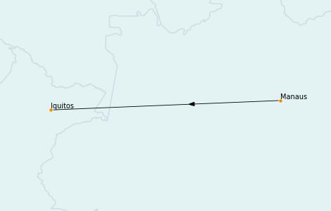 Itinerario del crucero Suramérica 10 días a bordo del Seabourn Venture