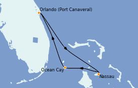 Itinerario de crucero Bahamas 8 días a bordo del MSC Divina