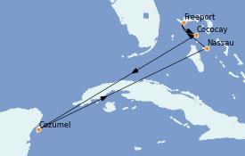 Itinerario de crucero Bahamas 8 días a bordo del Adventure of the Seas