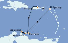 Itinerario de crucero Caribe del Este 8 días a bordo del Vision of the Seas