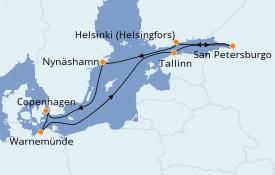 Itinerario de crucero Mar Báltico 10 días a bordo del Norwegian Getaway