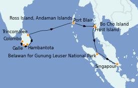 Itinerario de crucero Asia 17 días a bordo del Silver Explorer
