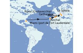Itinerario de crucero Trasatlántico y Grande Viaje 2022 15 días a bordo del Odyssey of the Seas