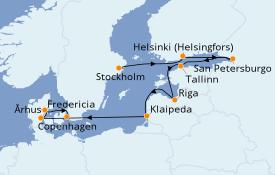 Itinerario de crucero Mar Báltico 14 días a bordo del Jewel of the Seas