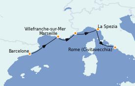 Itinerario de crucero Mediterráneo 5 días a bordo del Odyssey of the Seas